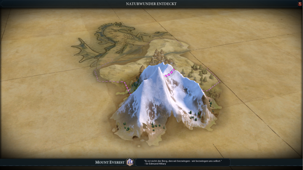 Das Naturwunder Mount Everest in Civ 6