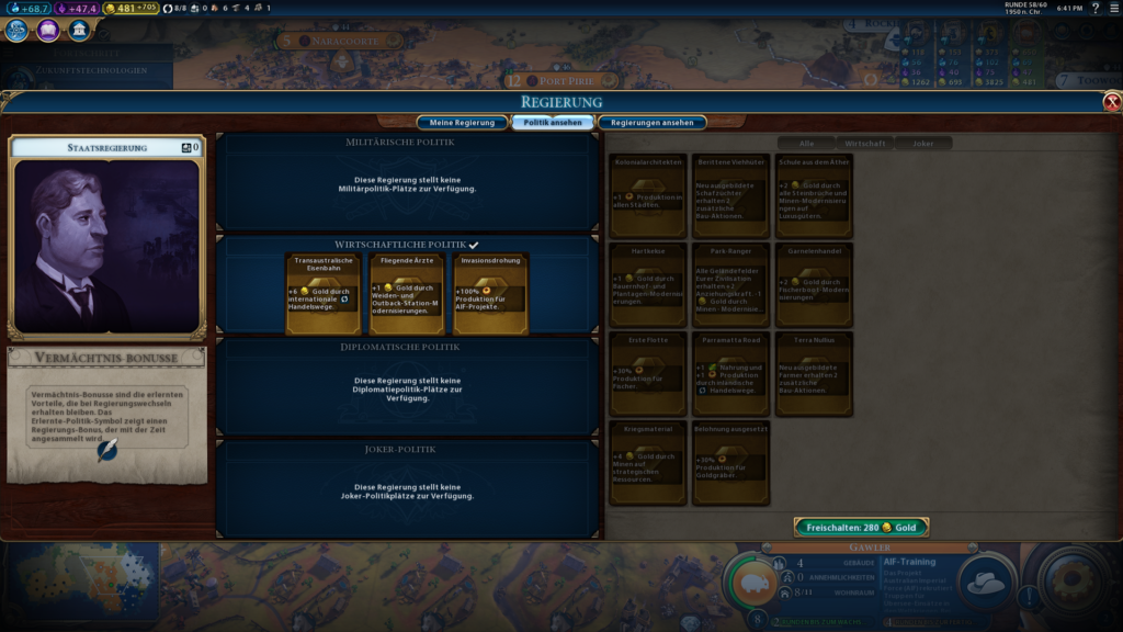 Civilization 6 Szenario Outback Tycoon